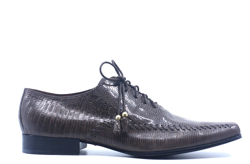 Brown Stingray and Lizard Dress Shoes US 11