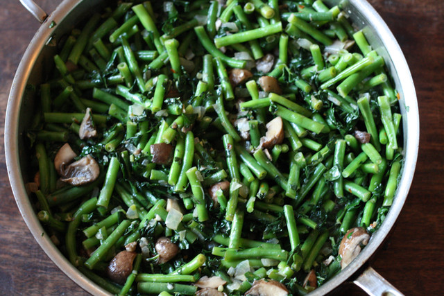 Spicy Green Beans and Kale