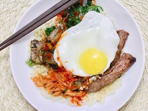 Easy-ish Bibimbap with Big Cauliflower Rice