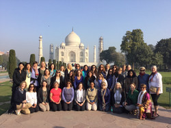 My soul sisters and me at the Taj