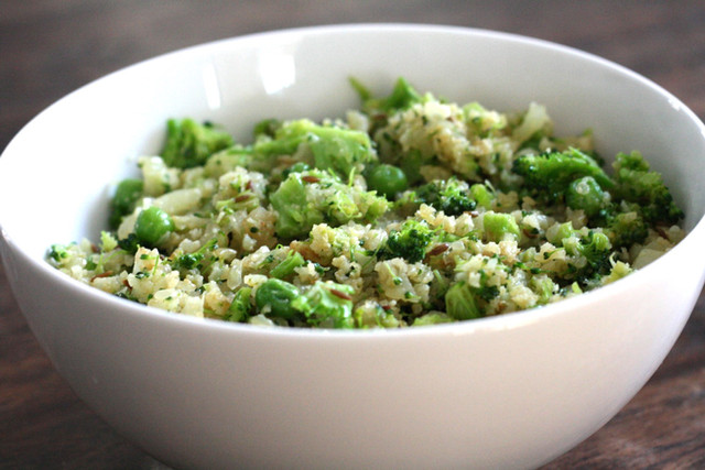 Broccoli-Cauliflower Rice