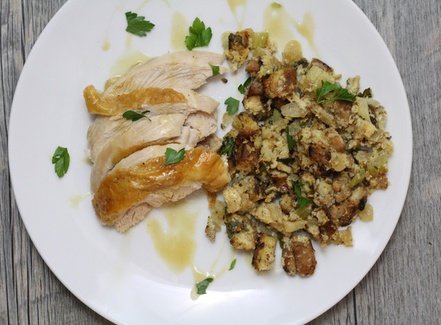 Gluten Free Stuffing and Roasted Turkey Breast