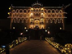 The magical Samode Palace outside of Jaipur
