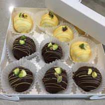 Handcrafted Dark and white Chocolate Truffles