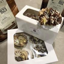 Chocolate marble vanilla cupcakes