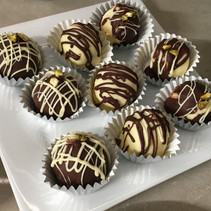 Handcrafted Milk and White Chocolate Truffles