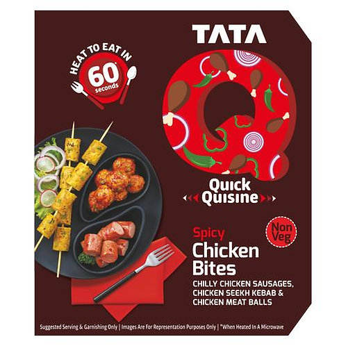 TATA Q  Spicy Chicken Bites -180 gm