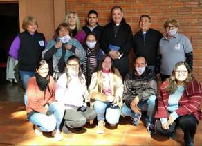El Obispo Nicolás Baisi visitó la Sede Diocesana de Cáritas