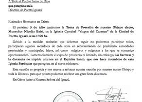 Protocolo toma de posesión Monseñor Nicolás Baisi