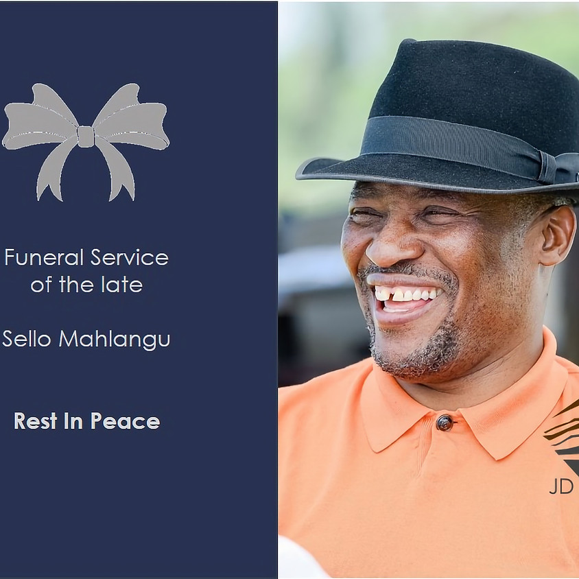 Funeral Service of the late Sello MahlanguJHGFHJ