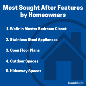 Most wanted features by homeowners