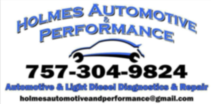 Holmes Automotive & Performance in Suffolk Virginia