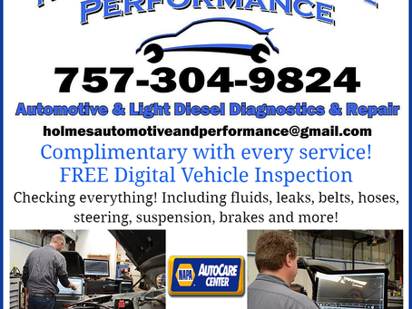 Complimentary FREE Digital Vehicle Inspection