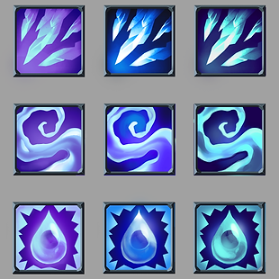 Ice Icon Colour Roughs