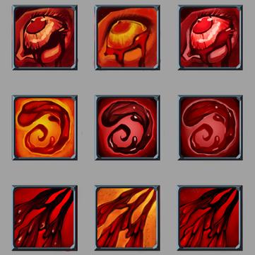 Blood Icon Colour Roughs
