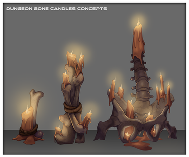 Dungeon Bone Candles Concepts
