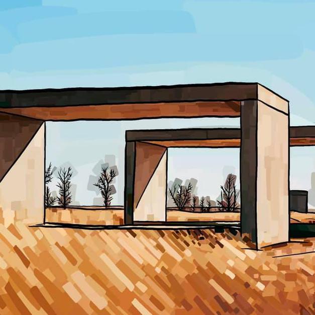 Landscape View | Donald Judd Concrete Boxes in Marfa, Texas