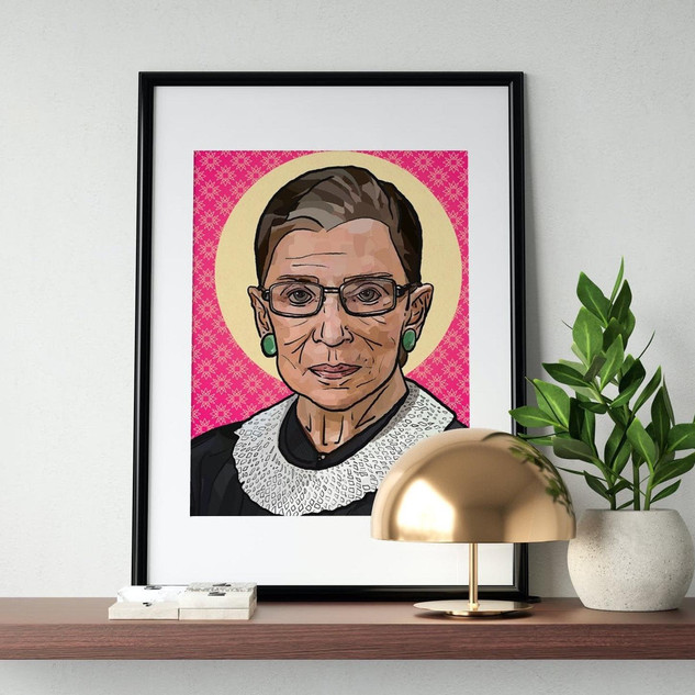 Art Print | Poster | Queen RBG | Justice Ruth Bader Ginsburg