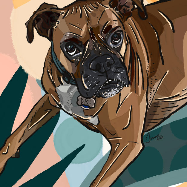 Digital Pet Portrait | Duke