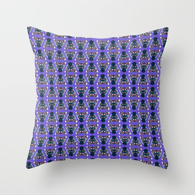 The Purple Reign Throw Pillow