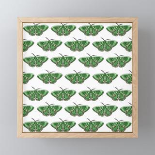 The Green Giant Pattern Framed Mini Art Print