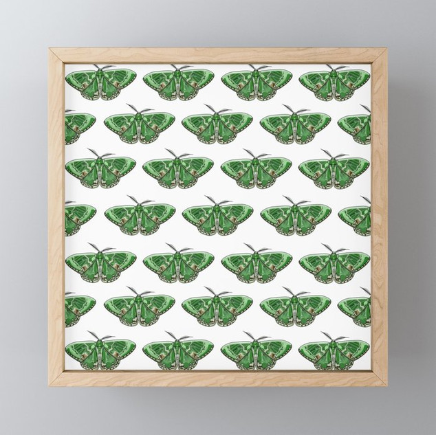 The Green Giant Pattern Framed Mini Art Print