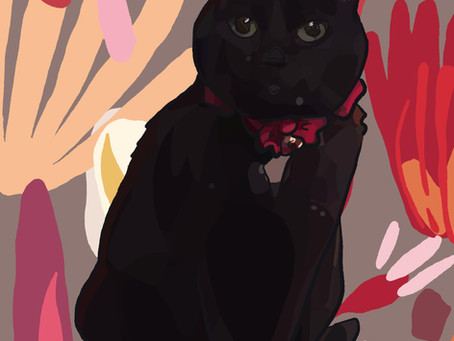 Portrait Alert! Digital Painting of Midnight