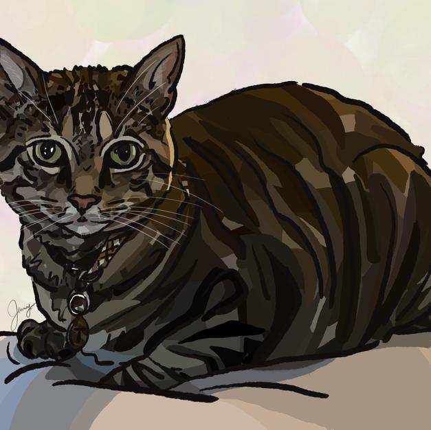 Digital Pet Portrait | Triton