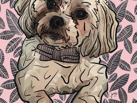 Portrait Alert! Digital Painting of Scout
