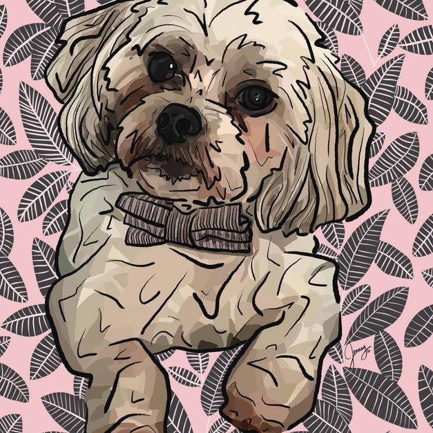 Digital Pet Portrait | Scout