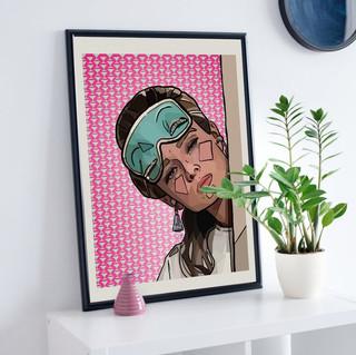 Breakfast at Tiffany's | Audrey Hepburn | Pattern Background | PRINTABLE Digital Download Wall Art