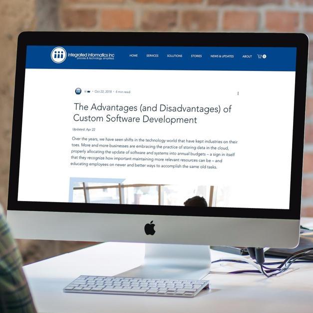 Corporate Blog & Technical Marketing | Integrated Informatics Inc.