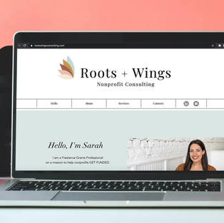 Logo Design   Roots & Wings Nonprofit Consulting