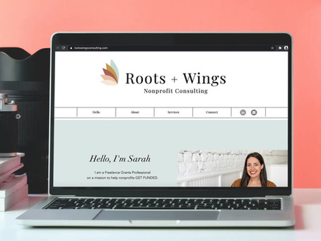 Logo Alert! Branding Roots + Wings Nonprofit Consulting