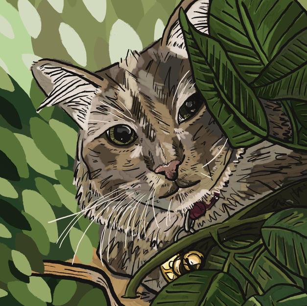 Digital Pet Portrait | Gigi