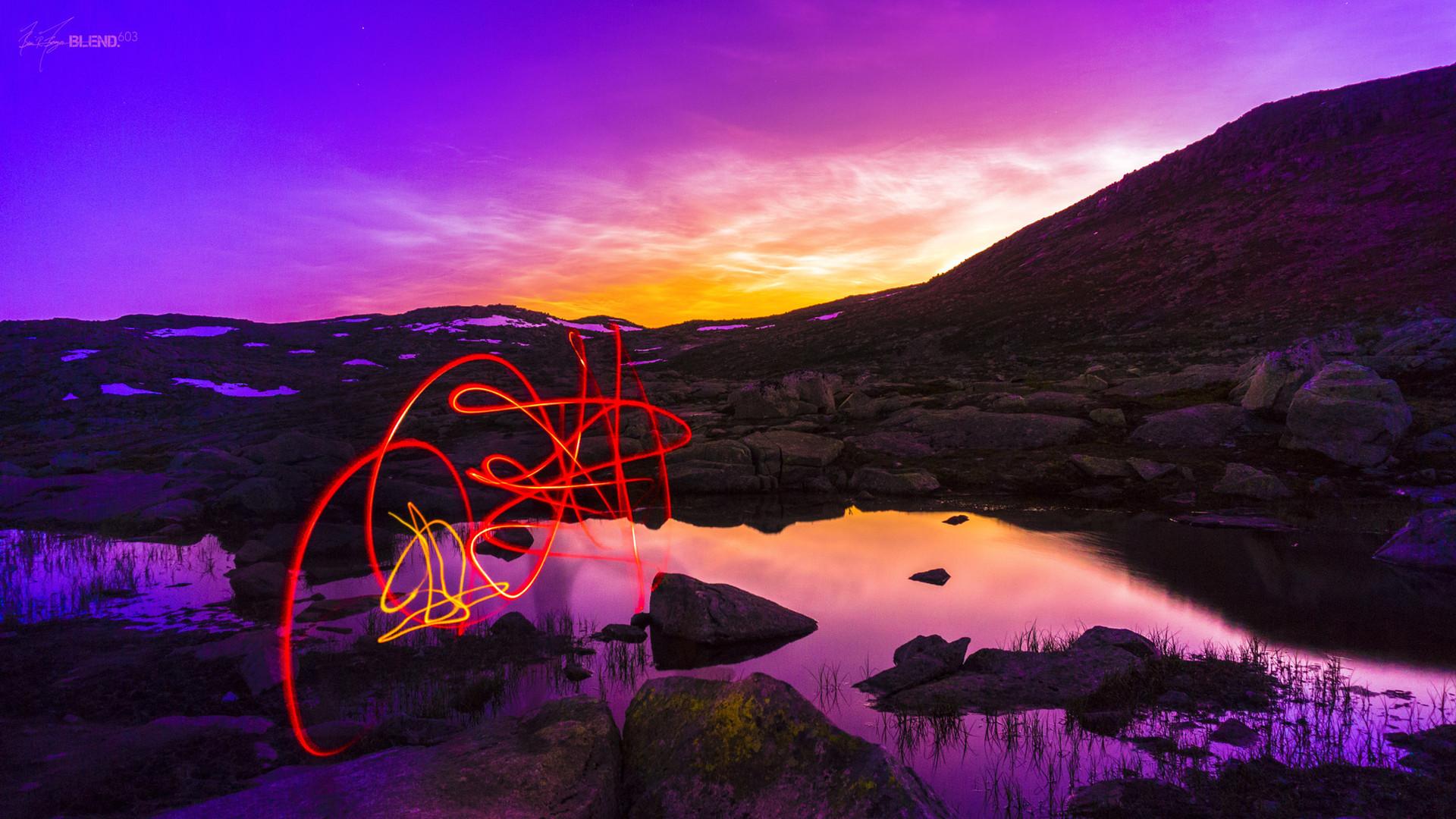 Light Trails, Trolltunga, Norway