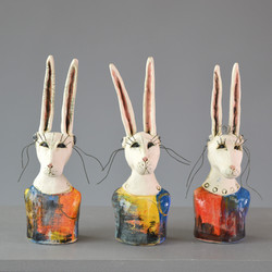 miniature hare busts
