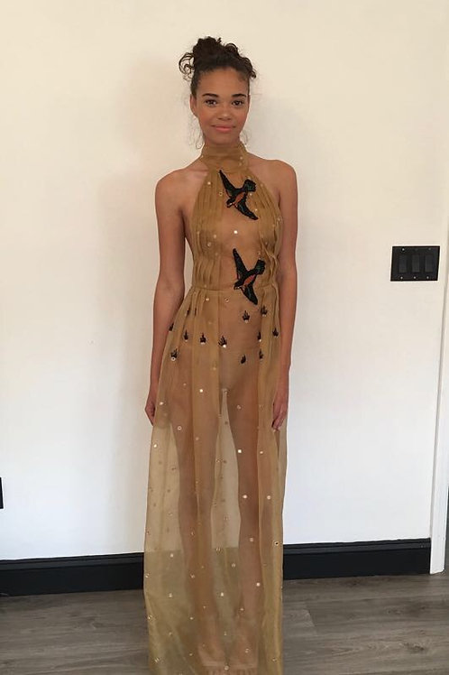 Tan Gown