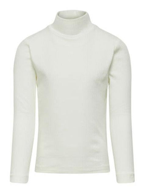 Jersey cuello alto blanco niña