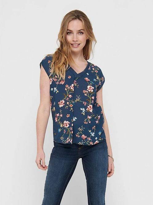 Blusa estampado floral azul 340004