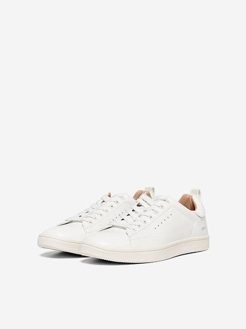 Zapatillas blancas Only detalle en plata