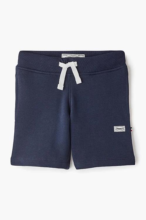 Pantalón corto de chándal azul organic cotton
