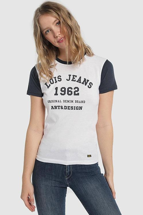 Camiseta logo LOIS azul 400004