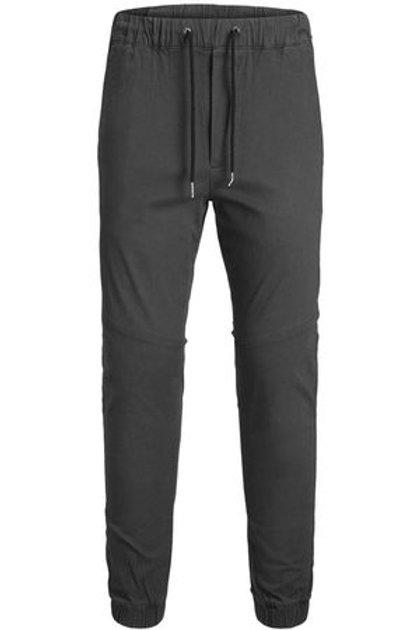 Pantalón cordones largo gris oscuro
