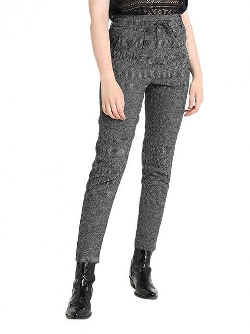 Pantalón cuadros oscuro gris On