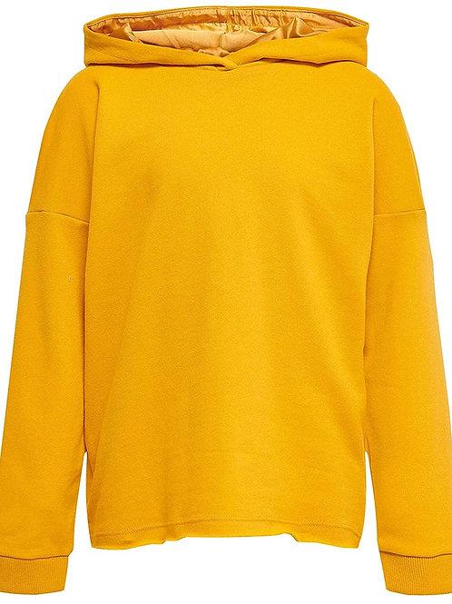 Sudadera amarilla capucha niña