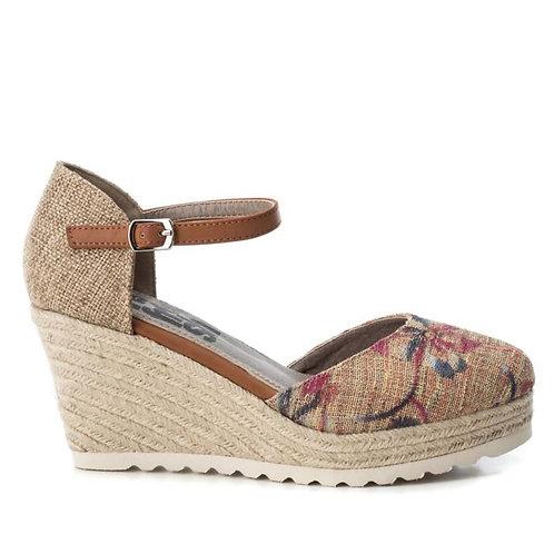 Zapato de cuña en textil 440015