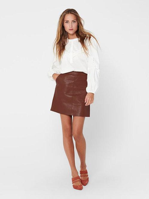 Falda fake leather teja