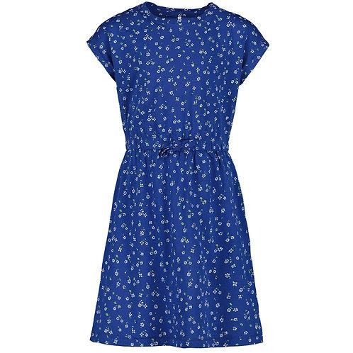 Vestido estampado niña azul