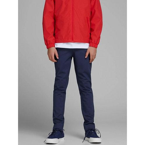 Pantalón junior azul pata larga cordones